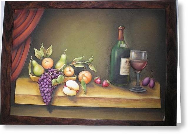 Still Life In 3-d Relief Work Greeting Card by Prity Jain
