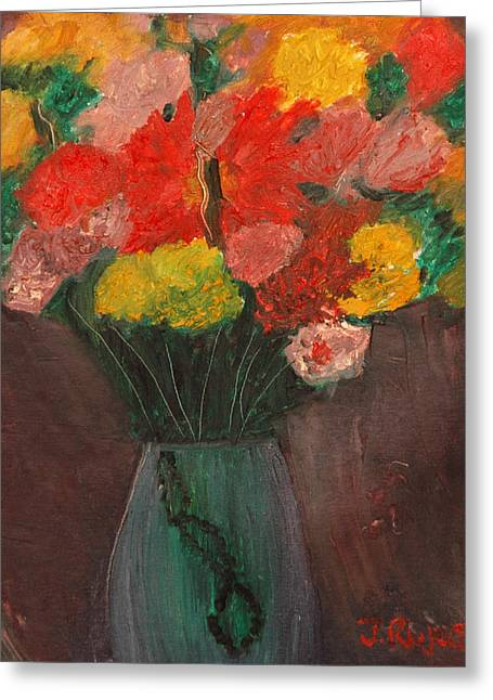 Flowers Still Life Greeting Card