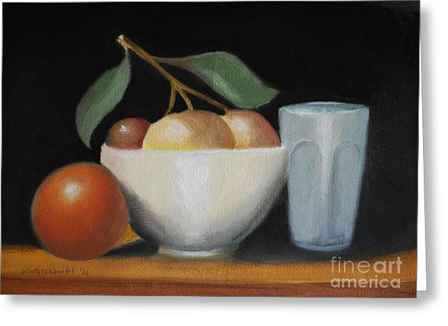 Still Life No-5 Greeting Card by Kostas Koutsoukanidis