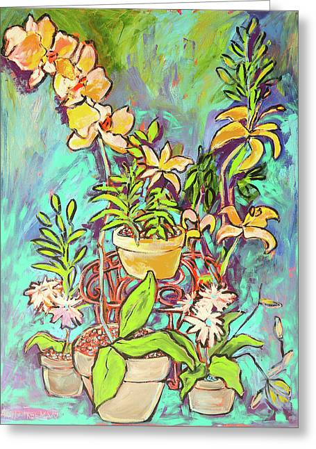 Still Life Of Flowers Greeting Card