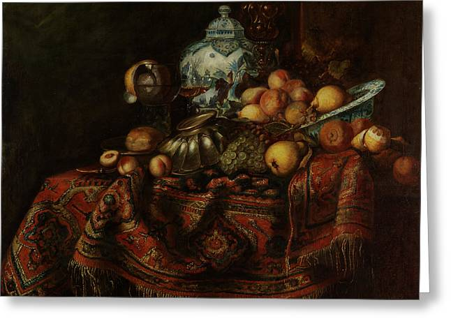 Still Life Of Fruits And Opulent Objects Greeting Card by Michael Durst