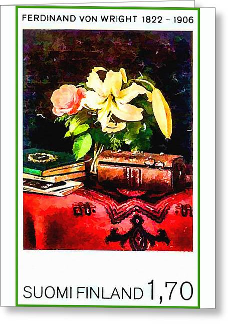 Still Life On A Lady's Work Table Greeting Card