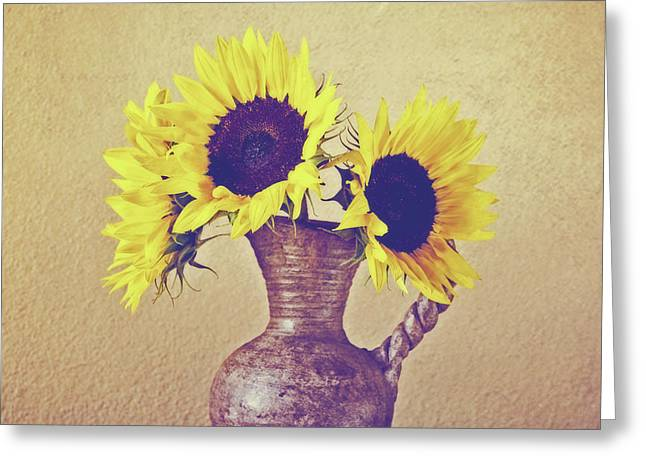 Still Life Sunflowers - Square Greeting Card