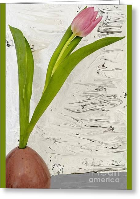 Still Life Tulip Greeting Card by Marsha Heiken