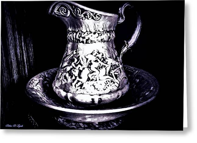 Still Life Water Pitcher And Bowl Greeting Card by Debra Lynch