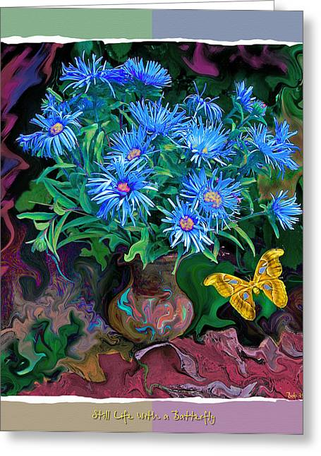Still Life With A Butterfly Greeting Card by Vladimir Kholostykh