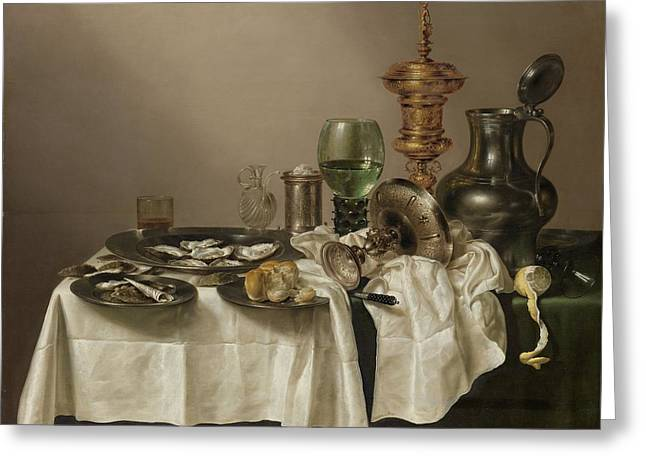 Still Life With A Gilt Cup, 1635 Greeting Card