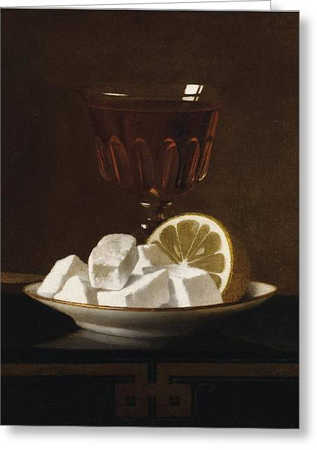 Still Life With A Glass Of Tea Greeting Card by MotionAge Designs