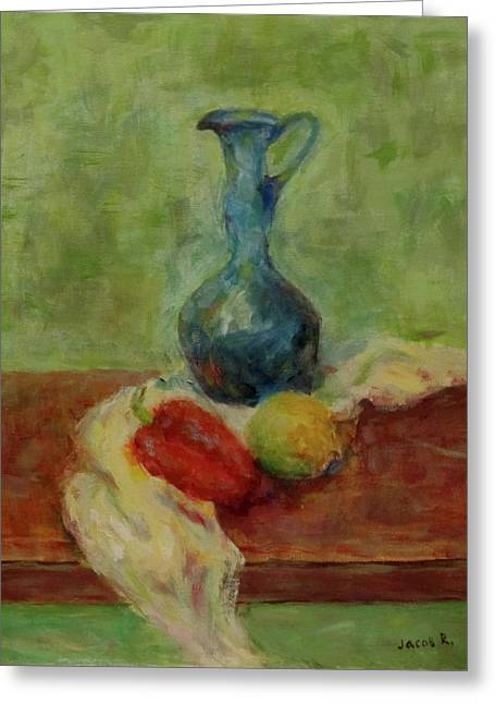 Still Life With A Jug Greeting Card by Jacob R