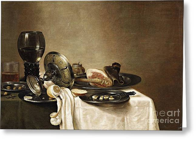 Still Life With A Leg Of Lamb Greeting Card by MotionAge Designs