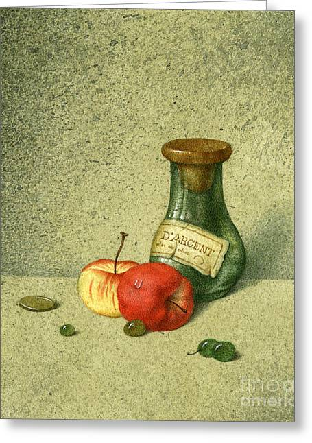 Still Life With A Small Jar Greeting Card