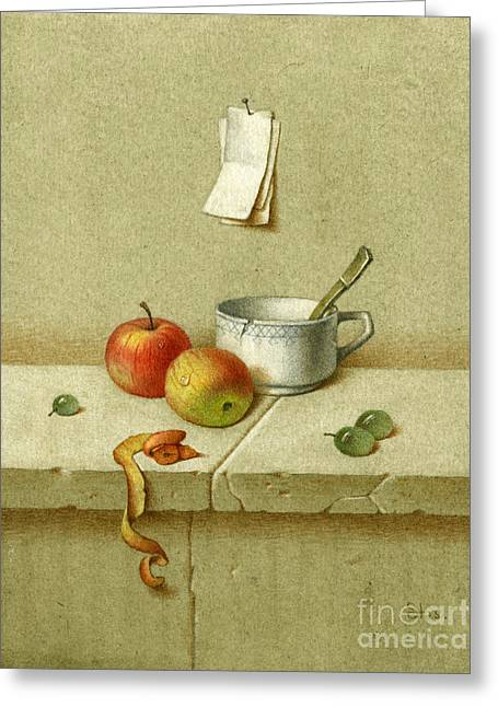 Still Life With A Teacup Greeting Card