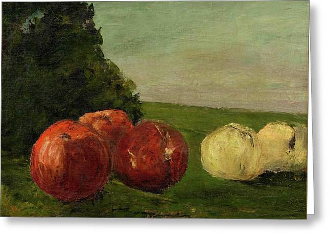 Still Life With Apples Greeting Card