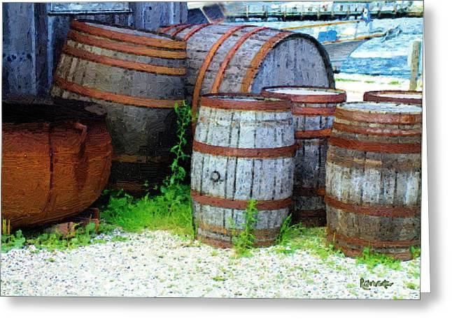 Still Life With Barrels Greeting Card by RC DeWinter