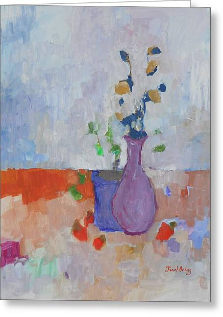 Still Life With Casein 1.7 Greeting Card by Janel Bragg