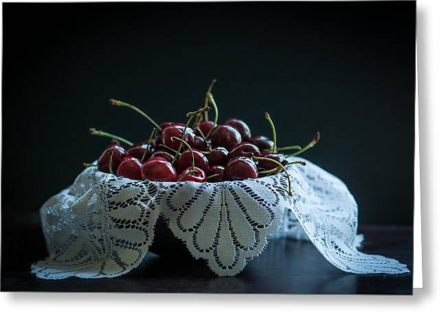 Still Life With Cherries Greeting Card by Maggie Terlecki