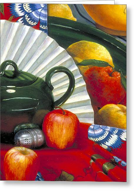 Still Life With Citrus Still Life Greeting Card by Nancy  Ethiel