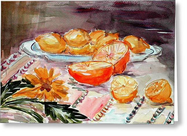 Still Life With Citruses Greeting Card by Liliana Andrei