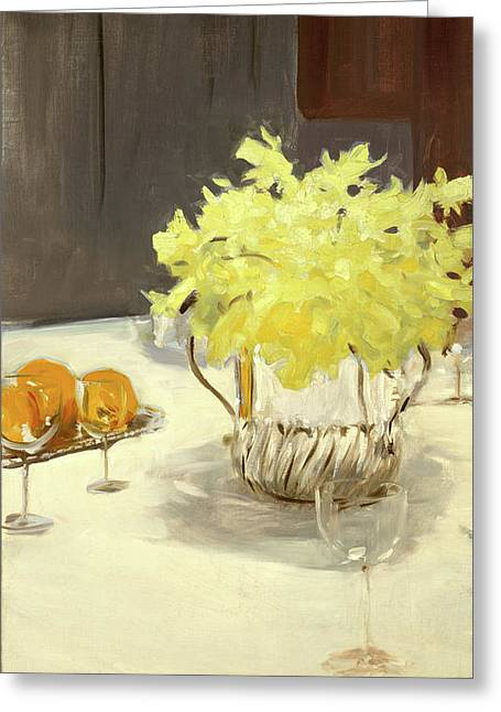 Still Life With Daffodils Greeting Card