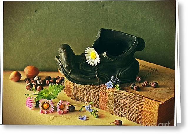 Still Life With Daises Greeting Card