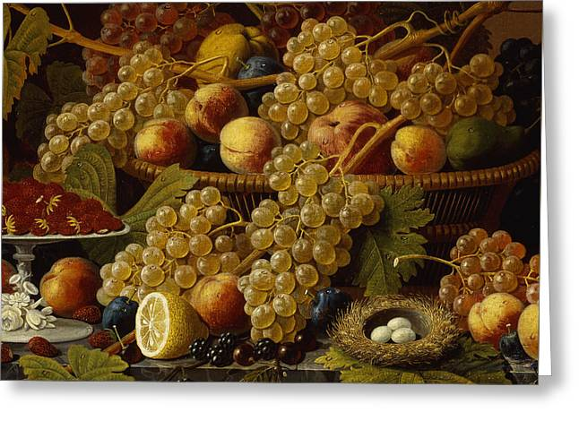 Still Life With Fruit, 1854 Greeting Card by Severin Roesen