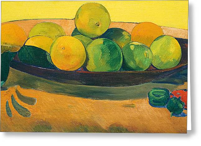 Still Life With Fruit And Peppers Greeting Card by Paul Gauguin