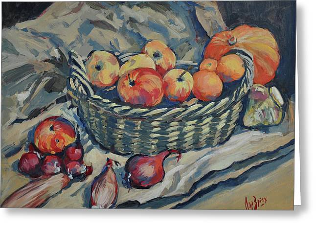 Still Life With Fruit And Vegetables Greeting Card