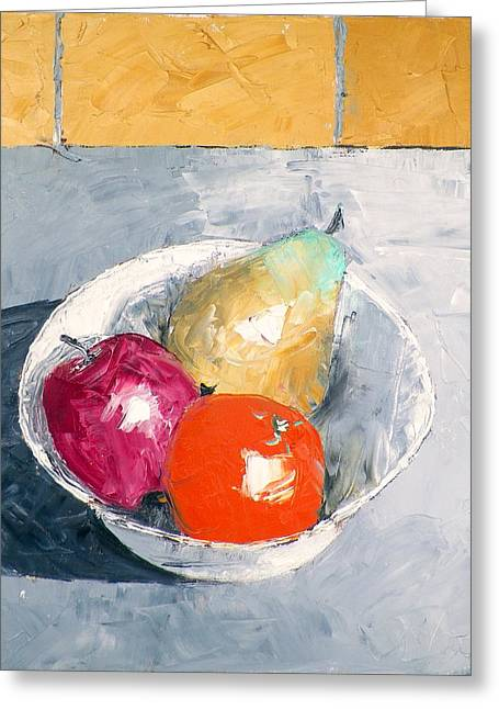 Still Life With Fruit In Bowl Greeting Card by RB McGrath
