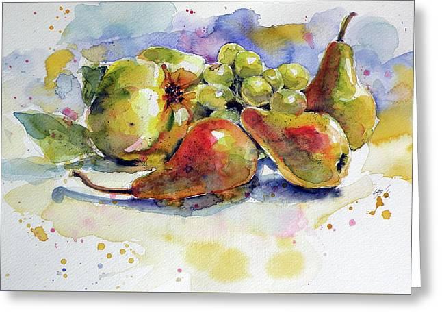Still Life With Fruits Greeting Card by Kovacs Anna Brigitta