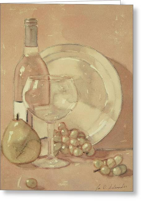 Still Life With Glass And Plate  Greeting Card