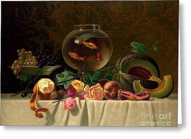Still Life With Goldfish 1873 Greeting Card