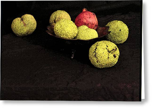 Still Life With Horse Apples Greeting Card