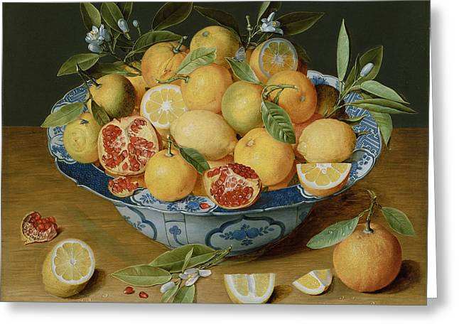 Still Life With Lemons Greeting Card