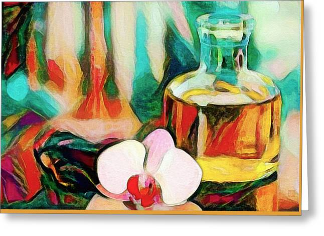 Still Life With Orchid Greeting Card by Roger Smith