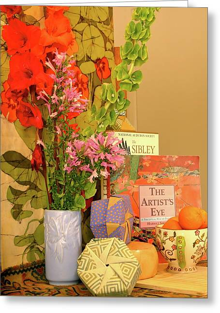 Still-life With Origami Boxes Greeting Card