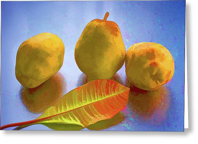Still Life With Pears Greeting Card by Vladimir Kholostykh