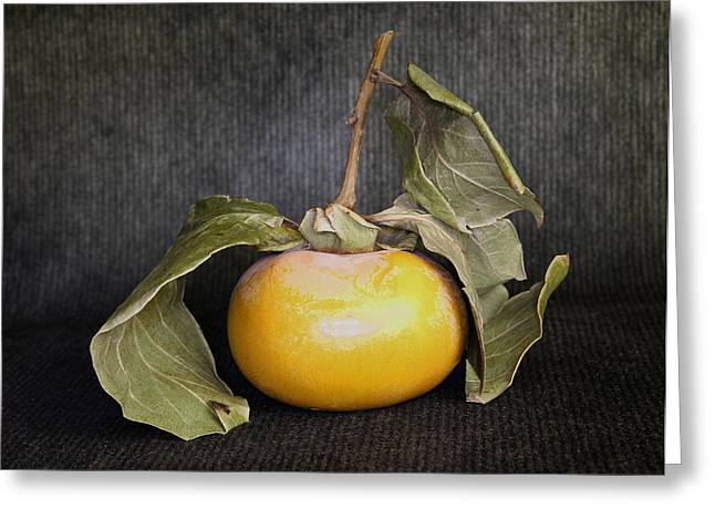 Still Life With Persimmon Greeting Card