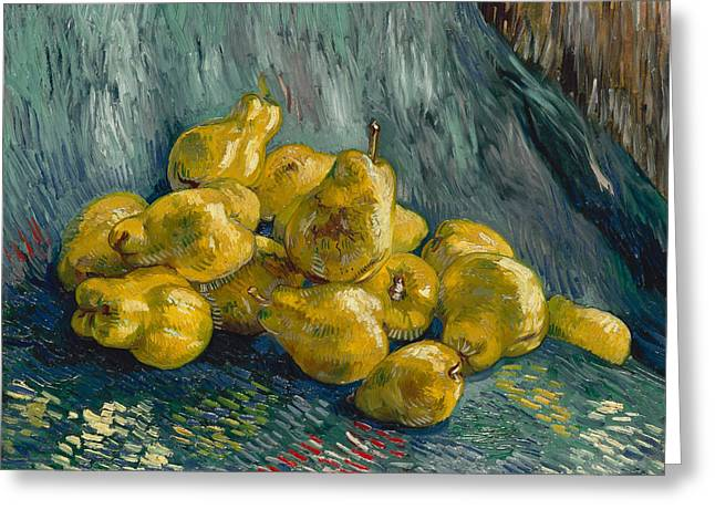 Still Life With Quinces, 1888 - 1889 Greeting Card by Vincent Van Gogh