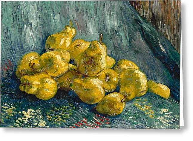 Still Life With Quinces Greeting Card by Vincent van Gogh