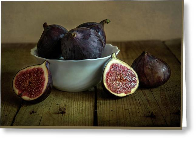 Still Life With Ripe Figs Greeting Card