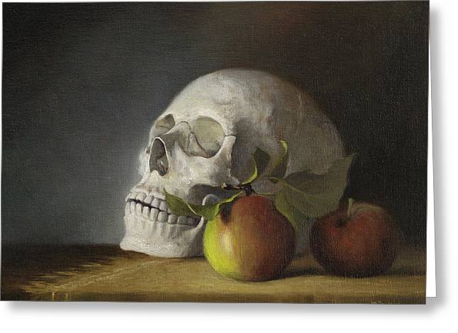 Still Life With Skull Greeting Card