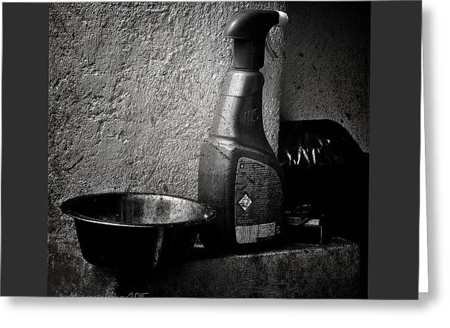 Still Life With Spraybottle - Still-leben Mit Spruehflasche Greeting Card by Mimulux patricia no No