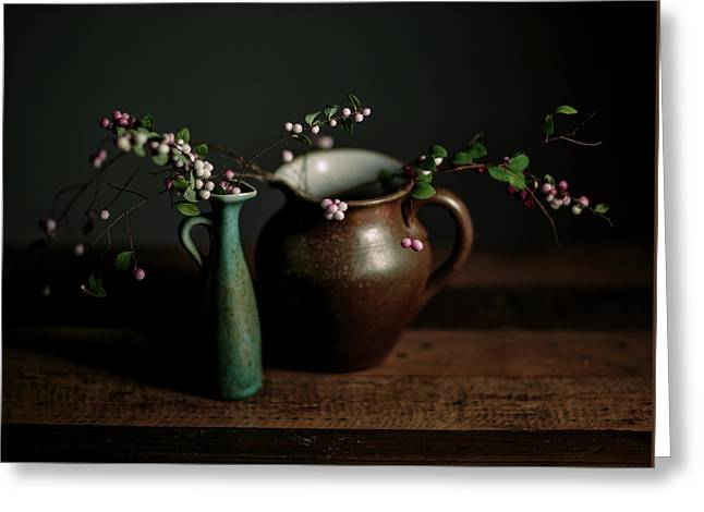 Still Life With Stoneware  Greeting Card