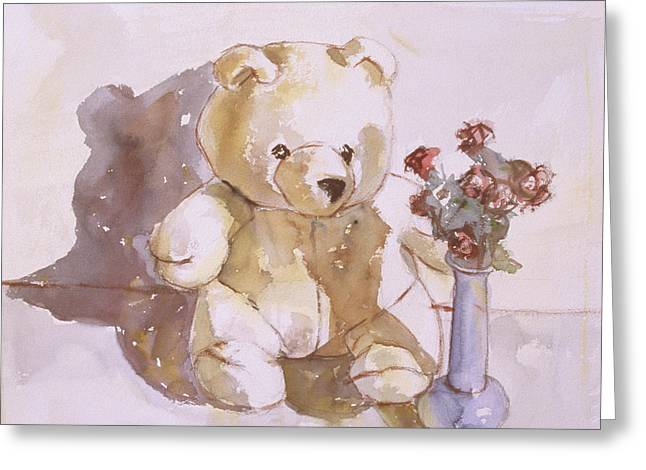Still Life With Teddy Bear Greeting Card