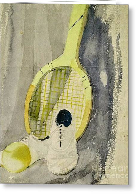 Still Life With Tennis Racquet Greeting Card