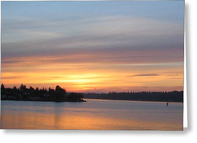 Still Morning Sunrise Greeting Card by Valerie Josi