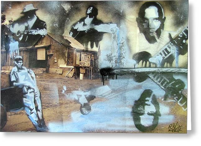 Still Raining Blues Greeting Card by Scott Perry and Robert Wolverton Jr