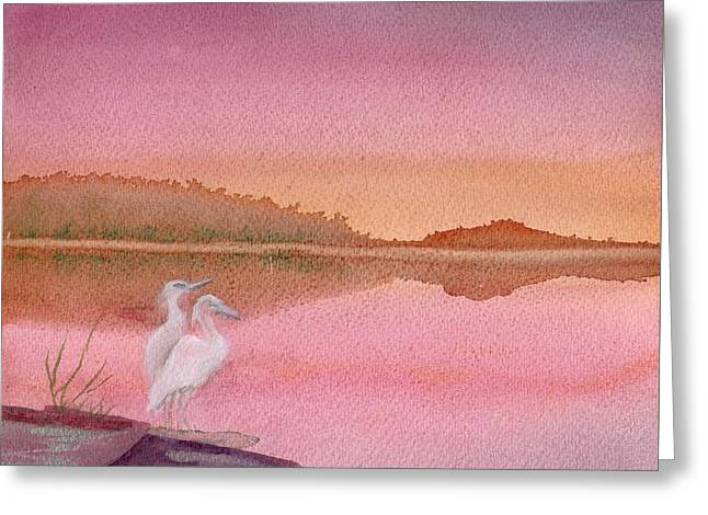 Still Sunset Greeting Card
