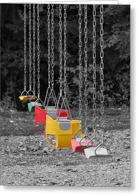 Still Swings Greeting Card by Richard Reeve