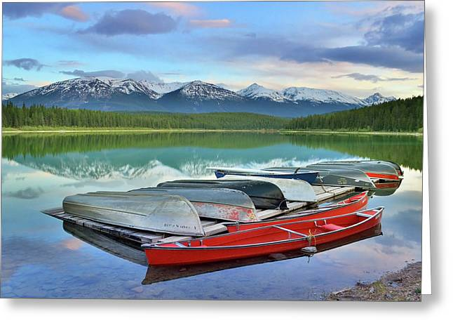 Greeting Card featuring the photograph Still Waters At Lake Patricia by Tara Turner